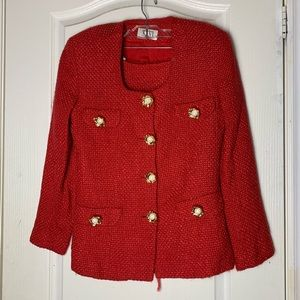 Dresses & Skirts - Red Tweed Set
